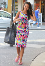 Keegan Multicolour Midi Dress as seen on Michelle Keegan