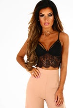 Monaco Black Lace Sheer Bralet