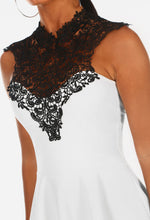 Moonlit Mocktail White Crochet Peplum Top