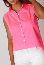 Charisse Neon Pink Backless Shirt