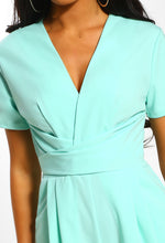 Night Of Your Life Mint Wrap Culotte Jumpsuit