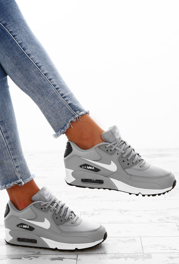 Nike Air Max 90 Grey and Rose Trainers  Pink Boutique
