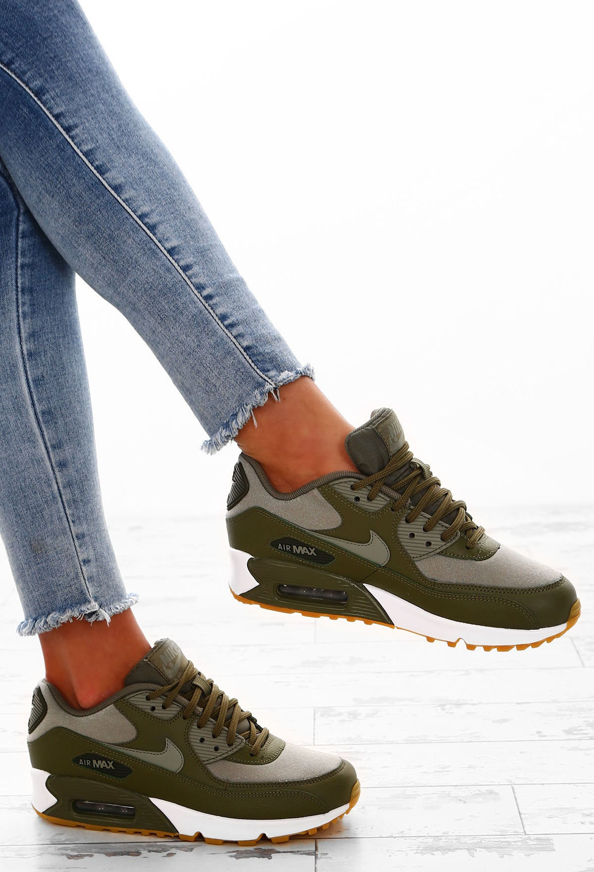 Nike Air Max 90 Khaki Trainers – Pink Boutique UK