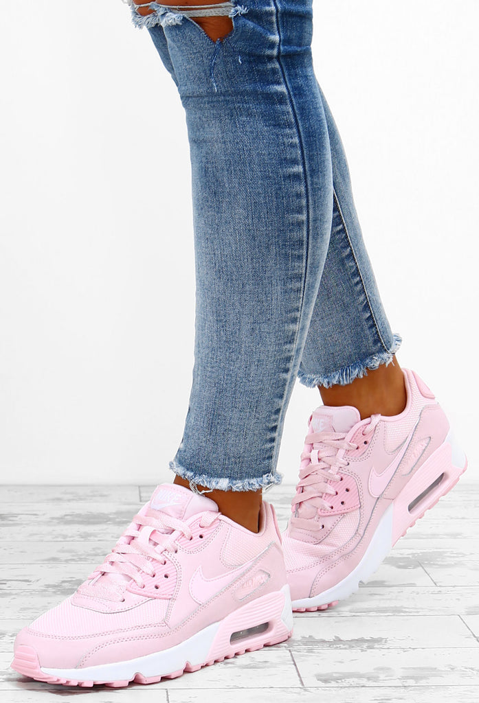 Nike Air Max 90 Baby Pink Trainers UK 3 | Pink nike shoes