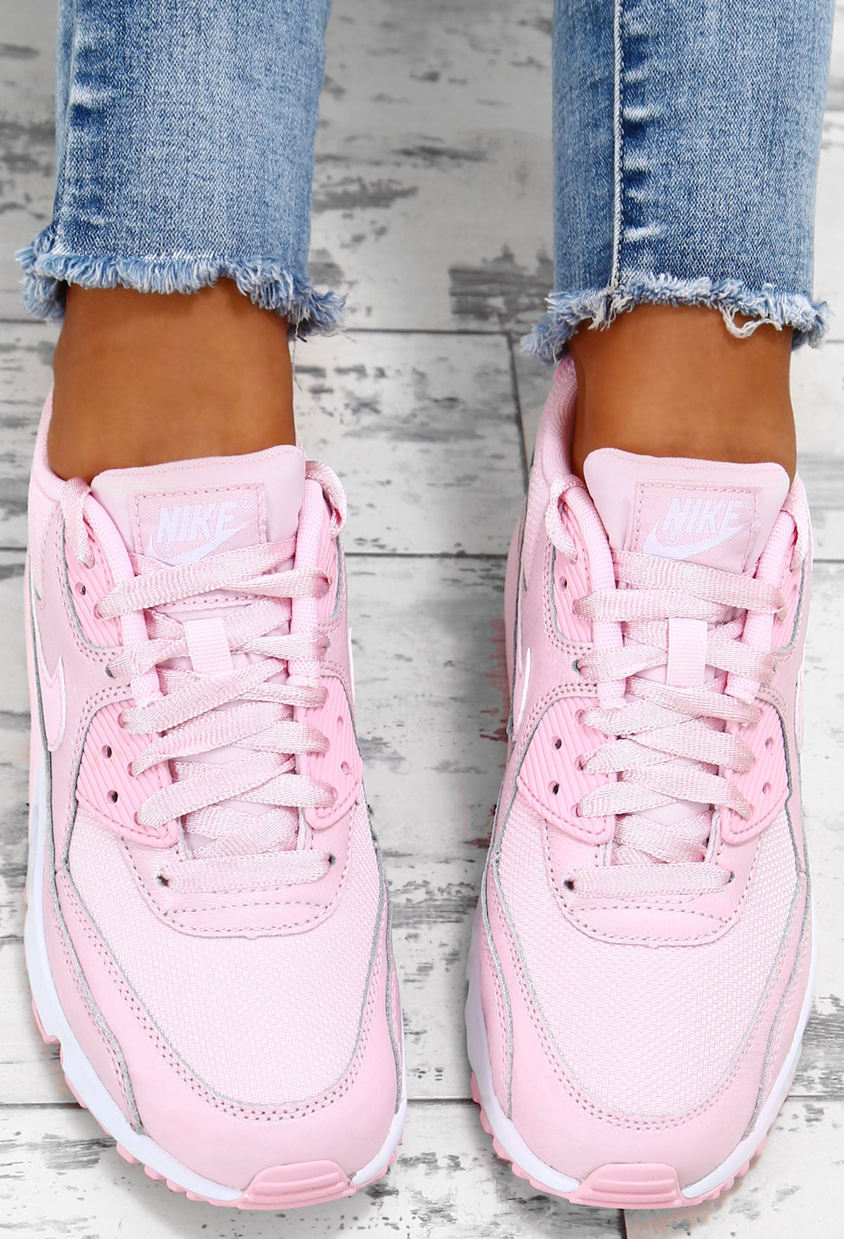 Nike Air Max 90 Baby Pink Trainers – Pink Boutique UK