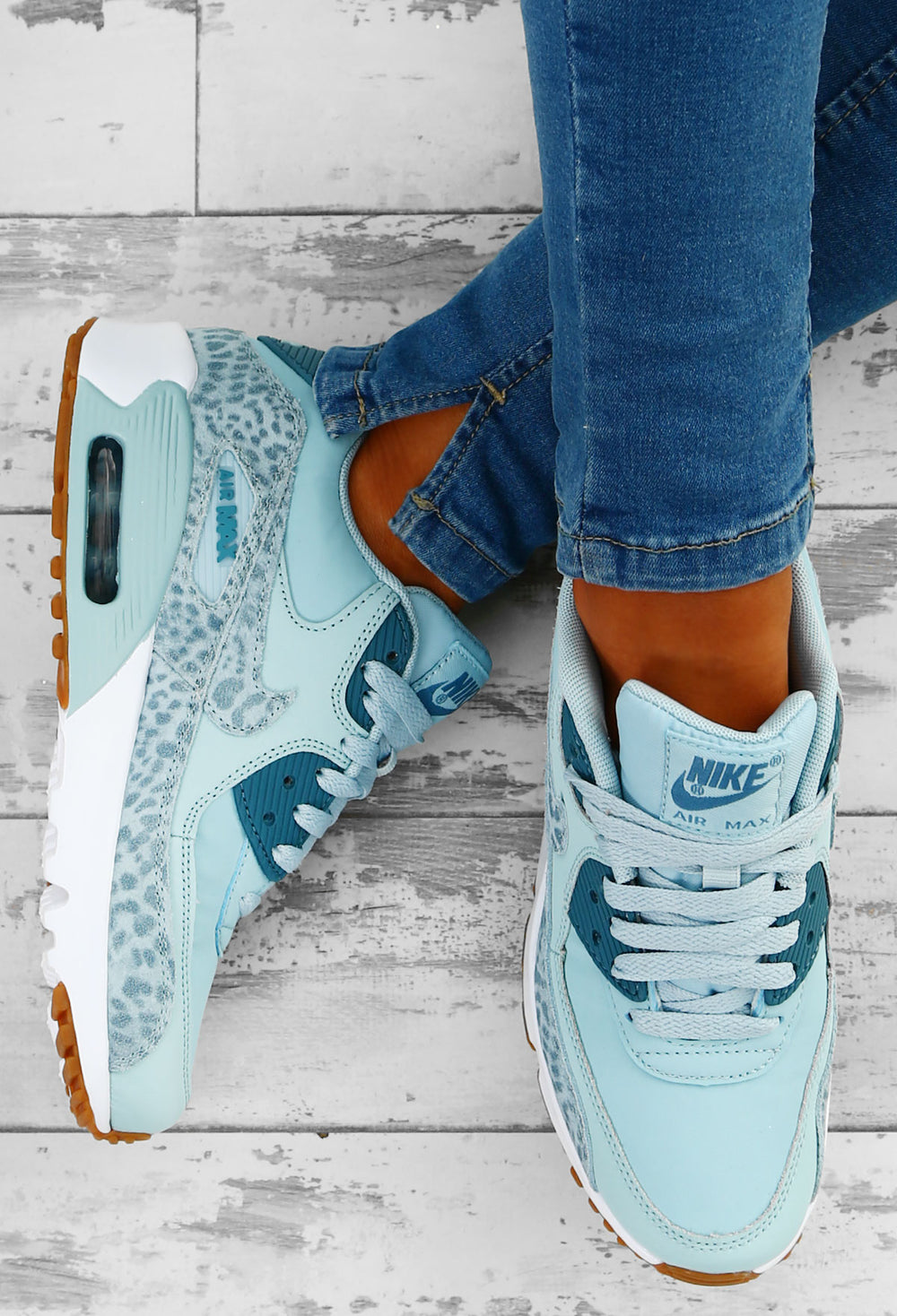 Nike Air Max 90 Pink Leopard Trainers UK 3 in 2019 | Nike