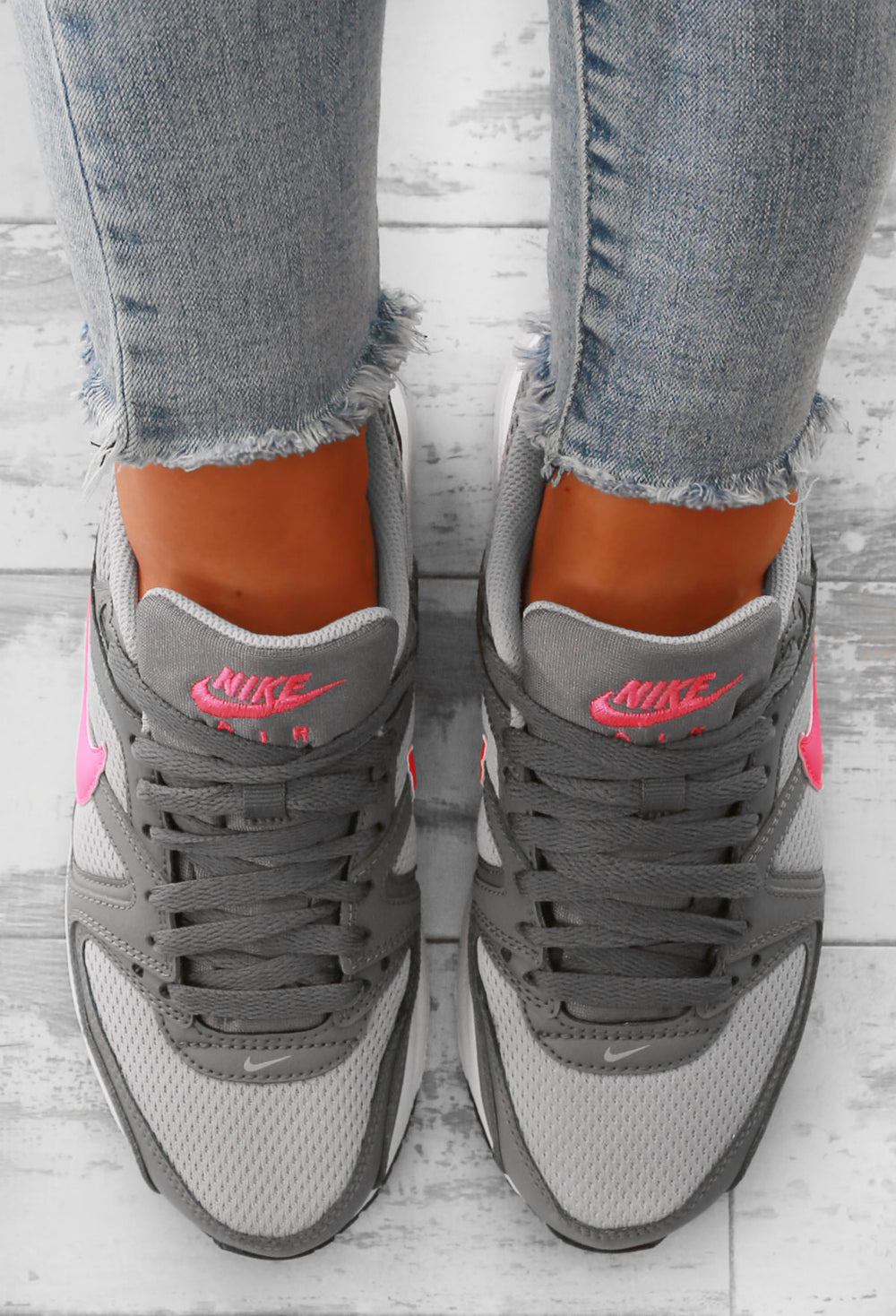 Nike Air Max Command Grey and Pink Trainers – Pink Boutique UK
