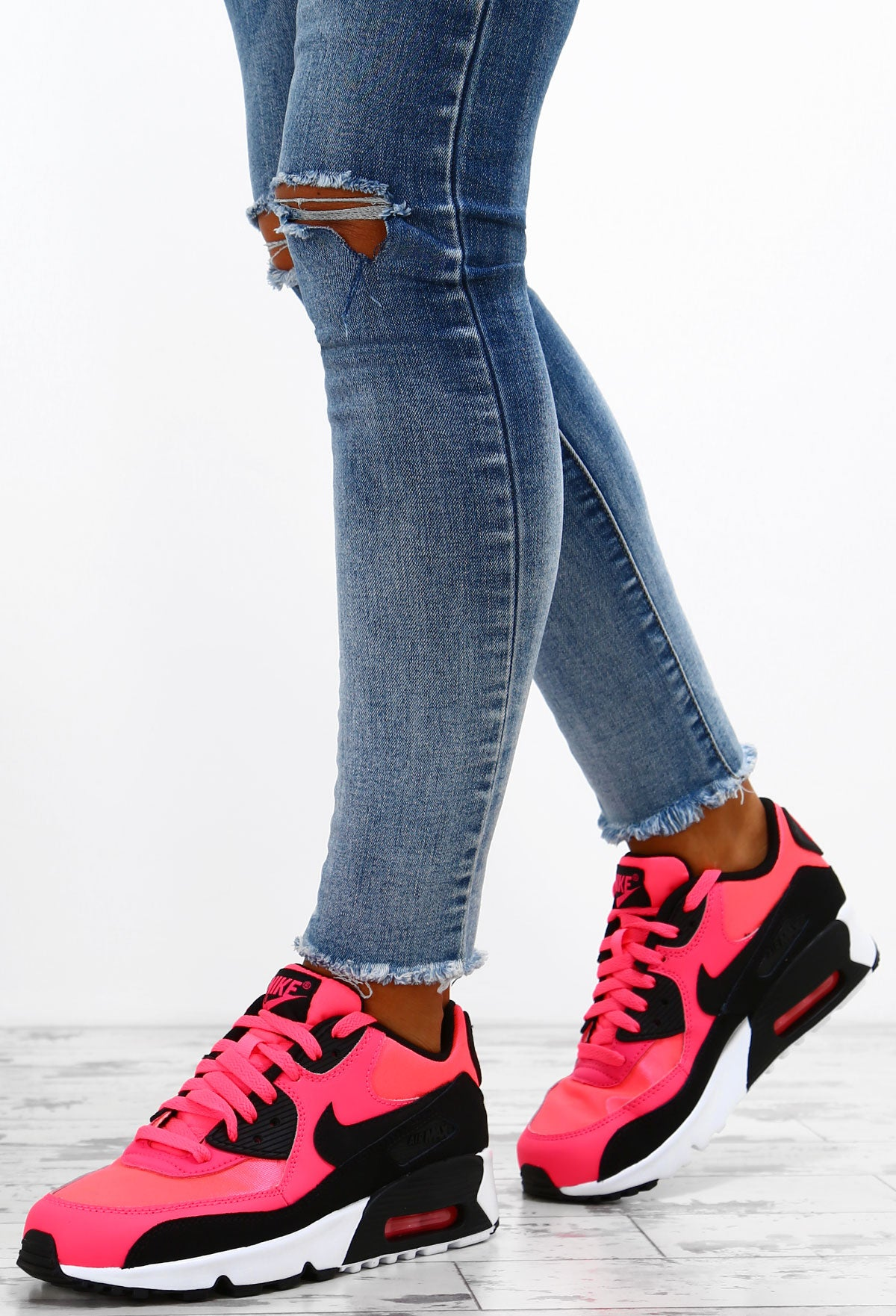 on sale 4ed6c c08ec Nike Air Max 90 Pink and Black Trainers – Pink Boutique UK