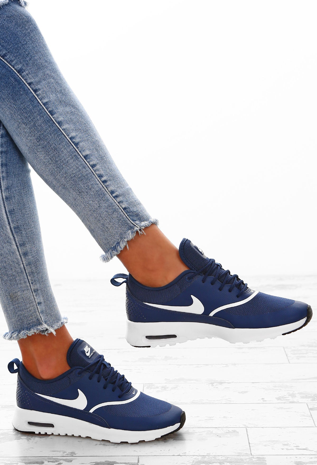 the best attitude 47d71 bdcb5 Nike Air Max Thea Navy Trainers – Pink Boutique UK