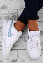 Nike White and Blue Court Royale Trainers