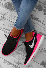 Nike Roshe Two Black and Pink Trainers