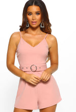 Nonstop Sass Rose Pink Belted Playsuit
