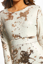 Northern Star Rose Gold Two Tone Sequin Mini Dress