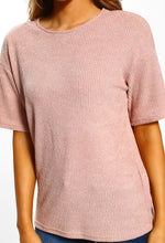 Oh My Daze Pink Ribbed Lounge Top