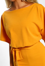 Oh So Glam Mustard Belted Wide Leg Jumpsuit