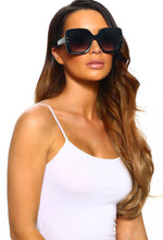 On Fleek Black Oversized Sunglasses