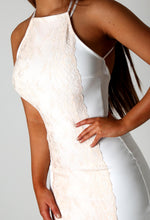 Padgent White Lace Midi Dress
