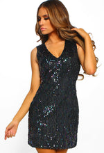 Party in NY Black Sequin Velvet Mini Dress