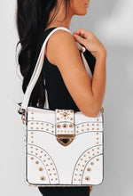 Pegasus White & Gold Effect Faux Leather Handbag