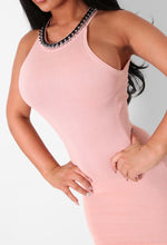 Lucie Pink Chain Detail Mini Dress