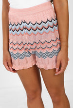 Pixie Kisses Pink Multi Shimmer Knitted Shorts