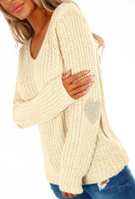 Platinum Blonde Cream Metallic Knitted Jumper