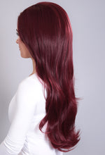 Extreme Volume Burgundy #118 Flicky 3/4 Wig