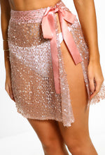 Pool Pixie Rose Gold Sequin Mini Skirt Cover Up
