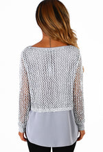 Portobello Girl Silver Sequin Double Layer Knitted Top