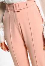 Posh Vibes Pink Belted Tailored Trousers
