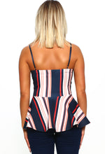 Striped Cami Top - Back View