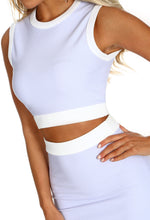 Pretty In Pastels Lilac Ribbed Co-ord