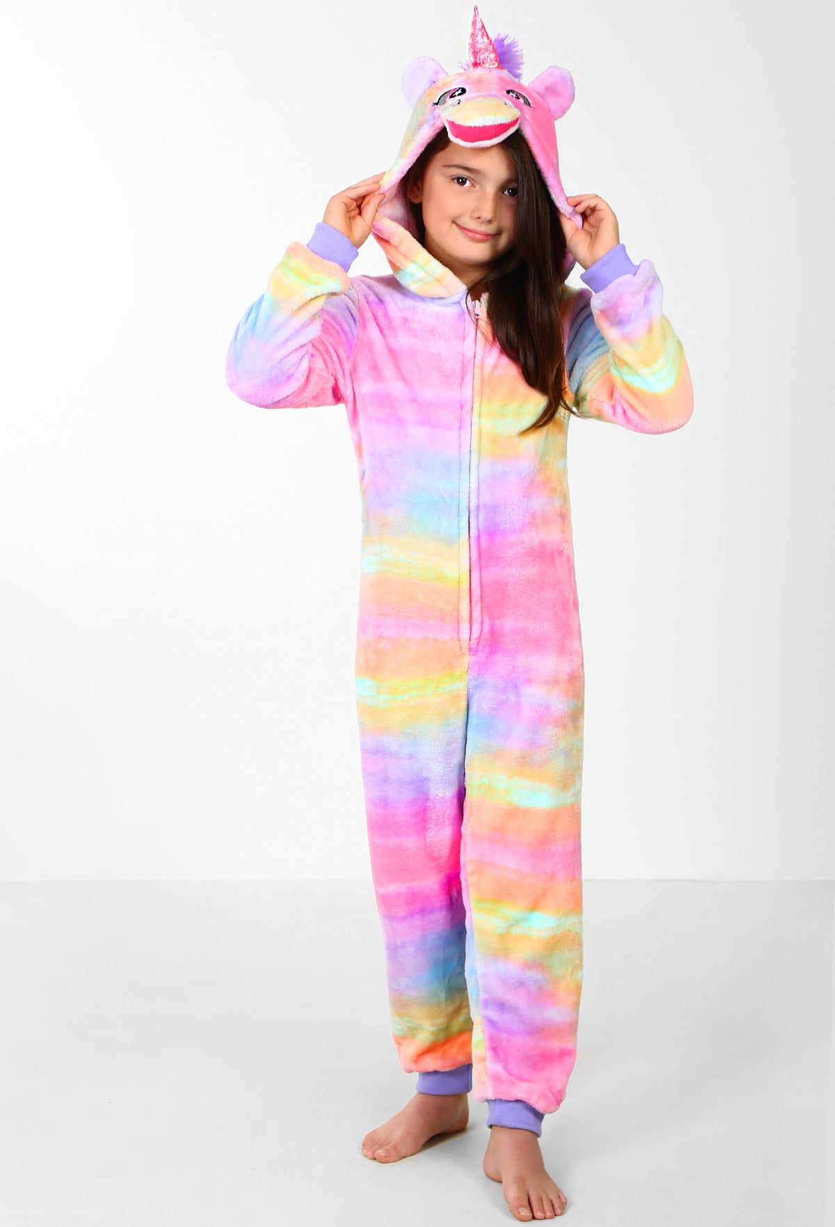 483dbbf5d2dc Princess Unicorn Multicolour Kids Unicorn Onesie – Pink Boutique UK