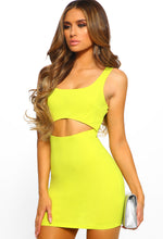 Lime Cut Out Bodycon Mini Dress