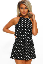 Remember Me This Way Black Polka Dot Sleeveless Playsuit
