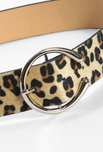 Right On Time Multi Leopard Print Buckle Belt