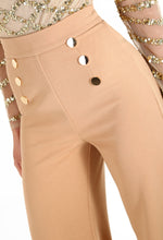 Risky Business Camel High Waisted Wide Leg Trousers