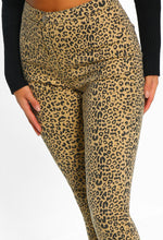 Road Runner Camel Leopard Print High Waisted Skinny Jeans