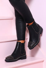 Rock Ready Black Studded Chelsea Boots