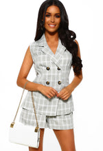 Grey Check Print Co-Ord
