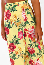 Seaside Sass Yellow Multi Floral Wrap Maxi Skirt