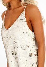 Sequin Sands Cream and Gold Sequin Shift Dress