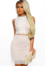 Seriously Sexy White Crochet Mini Dress