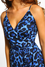 Blue Leopard Print Dress
