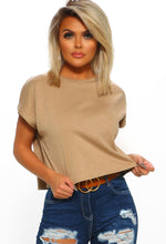 Slay & Sass Taupe Crop Top