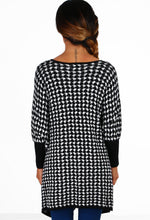 Slumber Black and White Houndstooth Jumper