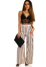 Smarty Pants Cream Stripe Wide Leg Trousers