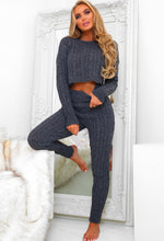 Snuggle Babe Grey Cable Knitted Lounge Set