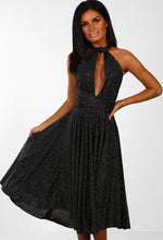 So New York Black Glitter Multiway Midi Dress