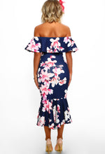 Floral Bodycon Dress - Back View
